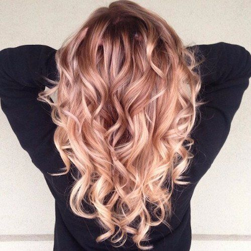 14 – rose gold blonde