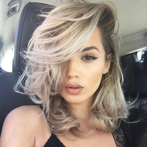 Wavy Lob Hairstyle